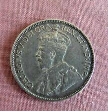 1913 25 CENTS SILVER COIN , CANADA GEORGE V.. FAIR CONDITION