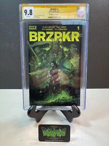 BRZRKR (BERZERKER) #1 VANCE KELLY GREEN VARIANT KEANU REEVES CGC 9.8 SIGNED