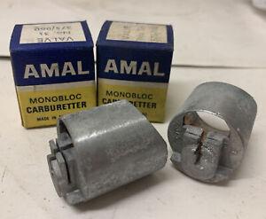 AMAL Monobloc 375 Throttle SLIDES * New * Old Stock   (Ref B/2)