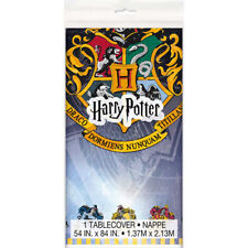 HARRY POTTER Hogwarts Houses PLASTIC TABLE COVER ~ Birthday Party Supplies Cloth