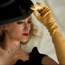 Vintage Gold Vixen Opera Sissy Glamour Metallic Stretch Sexy Elbow Gloves