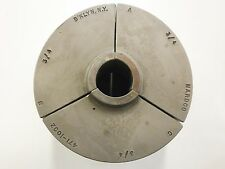 "Nardco #5 Warner Swasey 3/4"" Round Serrated Collet Pad Jaws 471-1002 CP02"