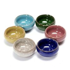 6pcs Ice Crack Glazed Chinese Kungfu Teacup Colorful Ceramic 50ml Tea Cup