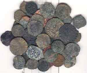 Cincin 19,interesting lot of 41 Spanish coins from the Feodale to Borbon Dinasty