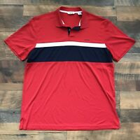 Izod Golf Mens Large Golf Polo Shirt Quick Dry Color Block Athletic Polo Shirt
