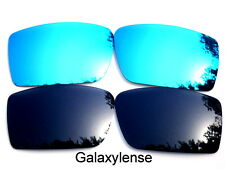 Galaxy Replacement Lenses For Oakley Gascan Black&Blue Color Polarized 2 Pairs