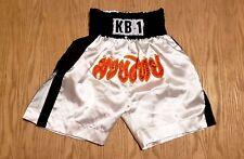 Mens Kb-1 Muay Thai Boxing Mma White Shorts Large