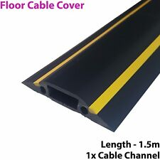 1.5m x 83mm Heavy Duty Rubber Floor Cable Cover Protector-Conduit Tunnel Sleeve