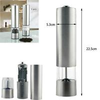 Kitchen Automatic Electric Stainless Steel Salt Pepper Spice Mill Grinder New