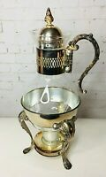 Vintage Leonard Silverplate Coffee Tea Carafe with Footed Warmer Stand