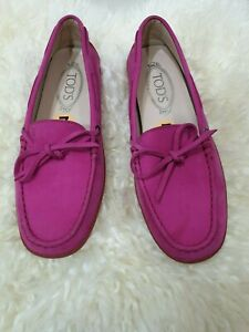 Tod's Shoes Suede Pink Size US 7 EU 37.5
