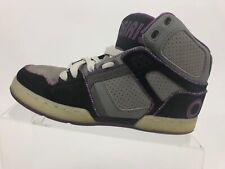 OSIRIS NYC 83 Slim Gray Purple Lace Up Skateboarding Shoes Mid Top Women US 9