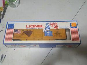 LIONEL SPIRIT OF 76 SOUTH CAROLINA BOXCAR 6-7608