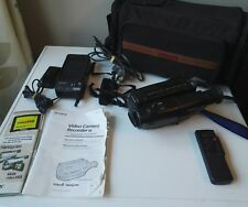 TESTED SONY CCD-TR420E PAL Handycam Video 8 Camcorder Hi8 Video Camera & extras