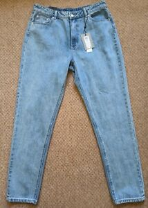 Vero Moda VMD Mom Joana Jeans Light Blue W33 L32 RRP £38 New & Tagged