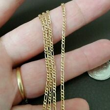 YELLOW GOLD PLATED ITALIAN 925 STERLING SILVER FIGARO CHAIN 22 INCH 3.71 GRAM