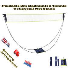 Portable Badminton Net Stand Set Tennis Volleyball Outdoor Beach Sport Foldable