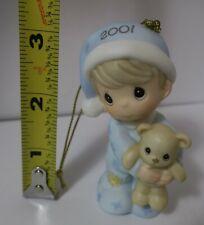 Precious Moments 2001 Baby's First Christmas Ornament Boy PMI 877506 Enesco