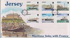 Gb-Jersey 2001 maritime des liens avec la France 150th Ann vapeur navires SG 973/78 FDC