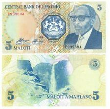 Lesotho 5 Maloti (1989) P-10 Unc Banknote Paper Money