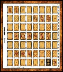 BICYCLE NECRONOMICON UNCUT SHEET  LIMITED PLAYING CARDS