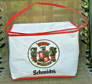 Vintage SCHMIDT'S BEER Vinyl Insulated Cooler Carrier - Holds 8+ Cans or Bottles
