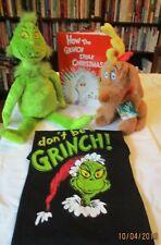 Dr Seuss How the Grinch Stole X-mas Book ,T-shirt , Grinch & Maxx