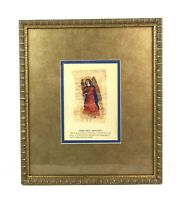 Carol McCrady February Barchiel Angel of Joy Wood Frame Double Matted 8 X 10