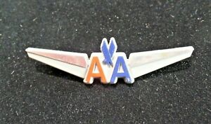 Vintage American Airlines Wings Badge Pin Stoffel Seals NY Plastic 7813