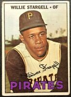 WILLIE STARGELL 1967 TOPPS VINTAGE BASEBALL CARD #140