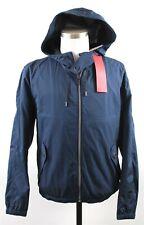 NWT Hugo Boss Bakor1 Full Zip Mesh-Lined Hooded Jacket MENS SMALL Blue Nylon