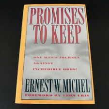 ** SIGNED ** UNREAD Promises to Keep WWII Auschwitz Ernest W. Michel  HC/DJ