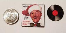 "Dollhouse Miniature Record Album 1""  1/12 scale Barbie  Christmas Bing Crosby"