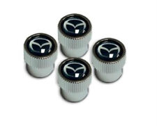 Genuine Mazda Valve Stem Caps in Black & Silver (set of four) C9N1V3820