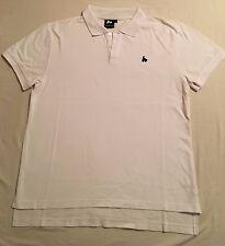 Money clothing white plain polo with chest motif