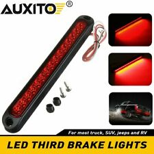 Universal 10 inch Sealed 15LED Light High Tail Third Stop Brake Light Strip Red