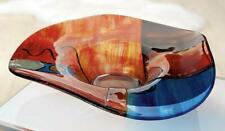 GIANT 48cm Tribute To Picasso Art Glass Abstract Biomorphic Bowl & Label