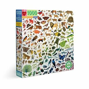eeBoo 1000 Pc Puzzle – A Rainbow World Kids Puzzle Family Puzzle 04554
