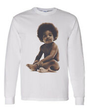Hip Hop Rap 90's Ready Die Notorious BIG Biggie Baby Mens Long Sleeve T Shirt