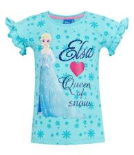 T-shirts et débardeurs bleus Disney à longueur de manches manches courtes pour fille de 2 à 16 ans