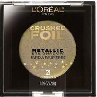 L'oréal Crushed Foil Metallic Collection Fards à Paupières 21 Glided Gold