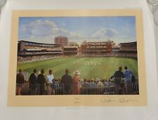 VERY RARE DENIS COMPTON SIGNED IN PERSON LORDS LTD ED ART PRINT ENGLAND CRICKET