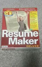 Resume Maker 10 Deluxe by Individual Software; NEW--#1 BEST SELLER;New in Box!