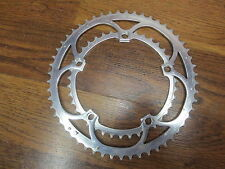 VINTAGE CAMPAGNOLO RECORD 5 BOLT 135 BCD 53/39T CHAIN RING - SILVER