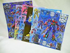 Transformers 6 x A4 Sheets of Shiny Foil Stickers (416) Party Bags Stocking