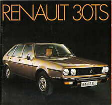 Renault 30 TS 1975-76 Original 22 page UK Market Sales Brochure