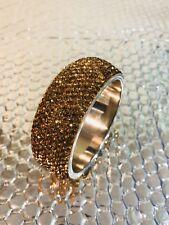 New Fashion Lady Jewelry Copper Tone Stone Thick Bracelet Bangle Wristband