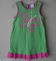 WORN ONLY ONCE: Hanna Andersson! Jersey Dress, Green/Pink, Size 90 (3T)