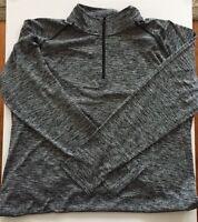 NEW UNDER ARMOUR Mens Black Size Large 1/4 Zip Shirt Top Heat UA Tech Sport Wear