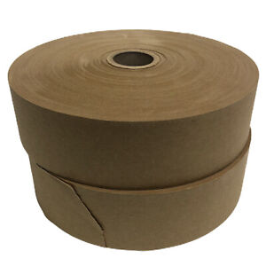 "2 PACK Lot 2"" x 600' Ft Rolls Paper Tape Gummed Non-Reinforced Water Kraft Tan"